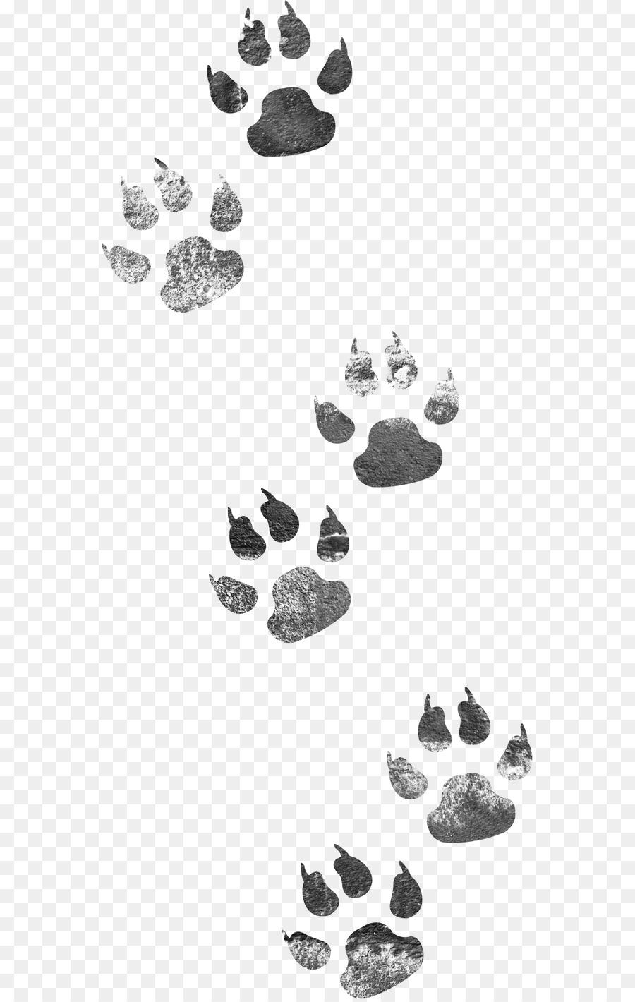 Dog Cat Dog Footprints 611 1416 Transprent Png Free