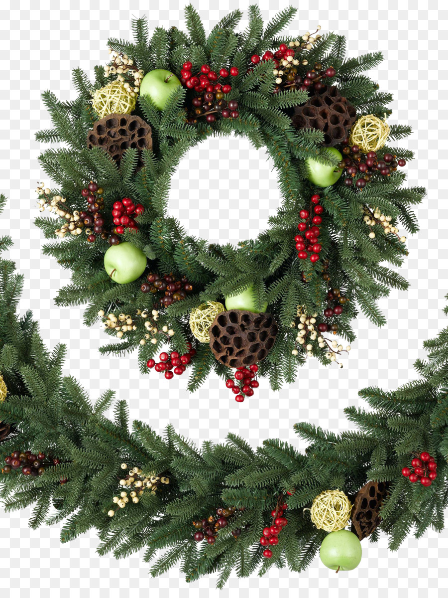 balsam hill artificial christmas tree wreath garland christmas wreath transparent background - Garland Christmas Decor