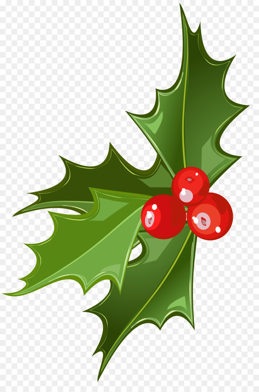 The three main Christmas symbols are mistletoe, holly and striped mint cane-shaped candy
