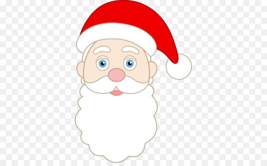 Santa Claus Cara De La Navidad Clip Art