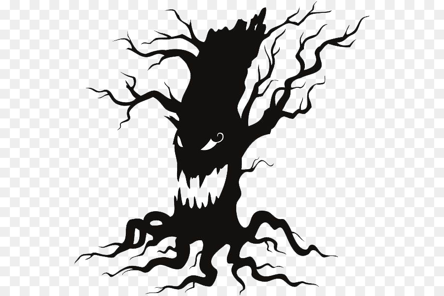 the halloween tree wall decal clip art halloween tree png file png