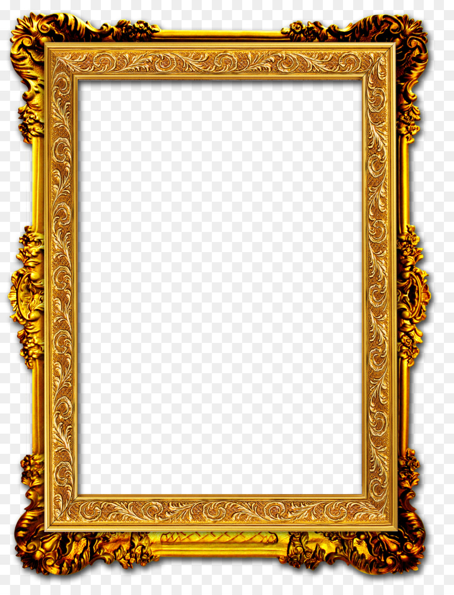 Picture frame Gold frame - Gold Frame png download - 2906*3803 ...