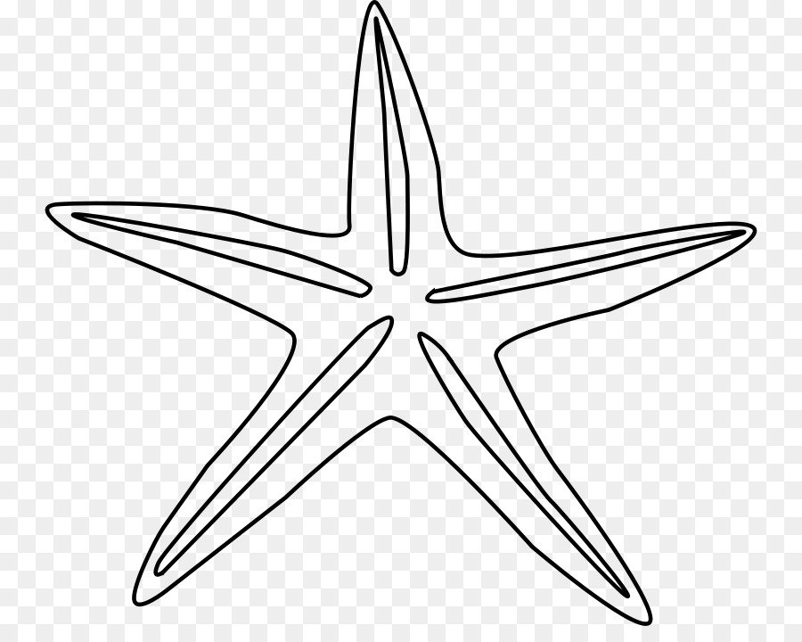 Starfish Buku Mewarnai Line Art Clip Art Gratis Gambar Bintang