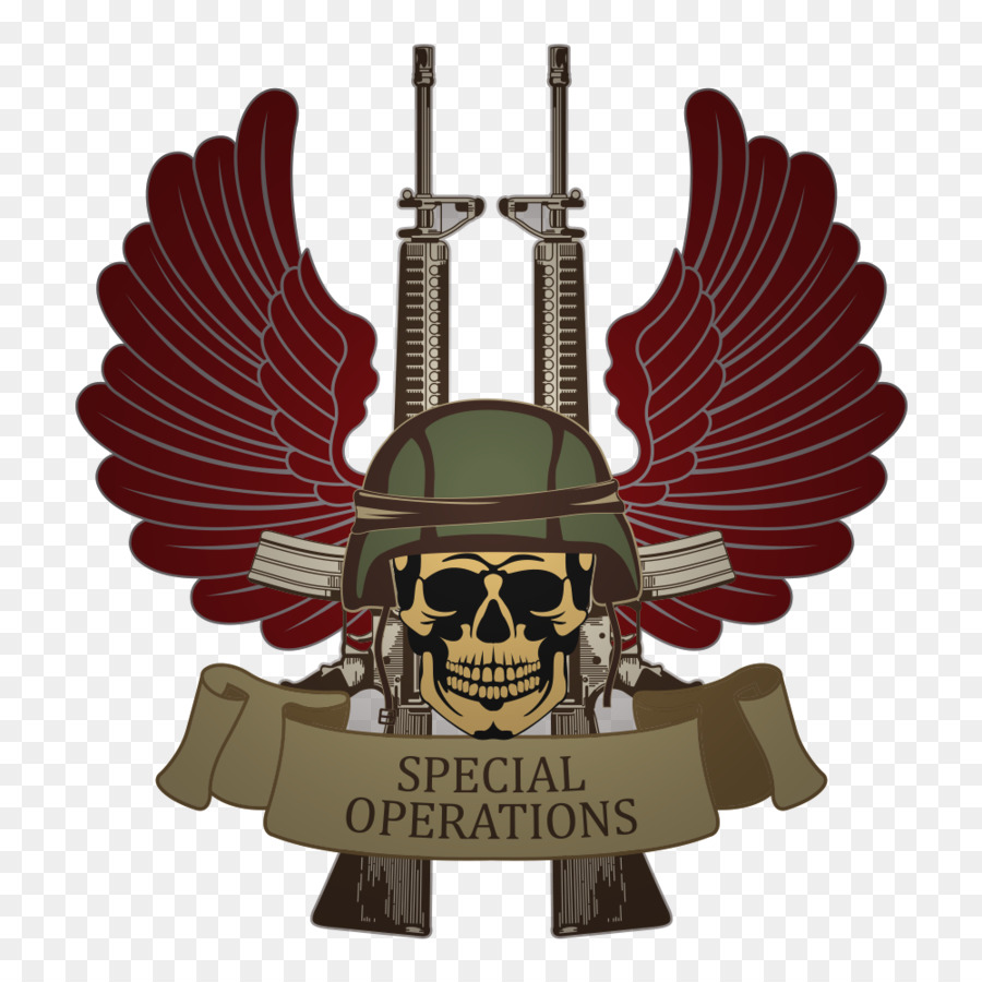 Symbol Royalty Free Army Illustration Vector Skull Wings Military