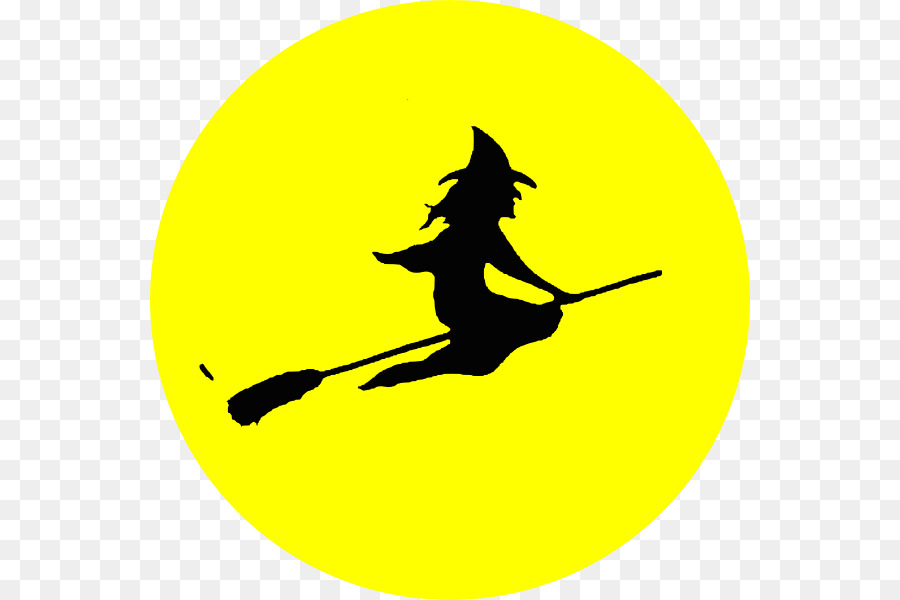 halloween clip art flying witch silhouette