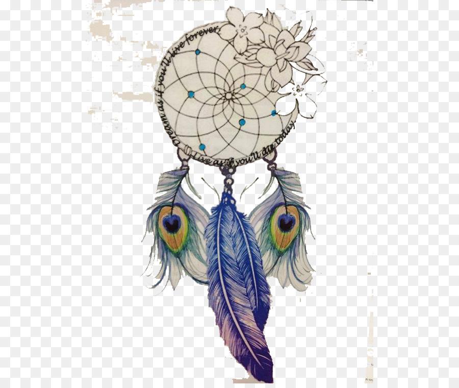 Dreamcatcher Zeichnung Feder Tattoo Dreamcatcher Png Herunterladen