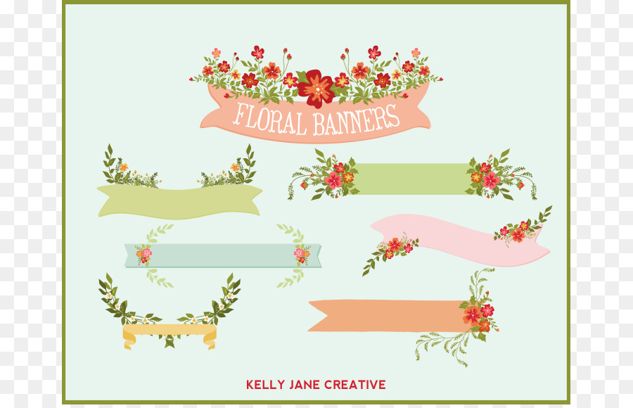 wedding invitation paper flower banner clip art jane cliparts