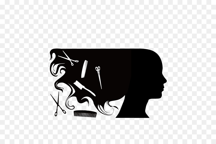 Women Hair Silhouette Vector Haircut Png Download 600 600 Free