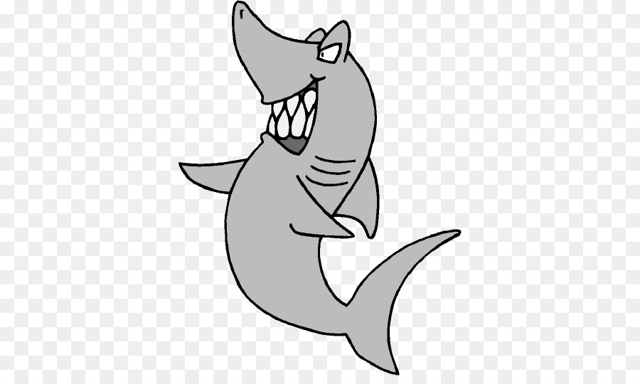 Gran tiburón blanco libro para Colorear con los tiburones Toro Clip ...