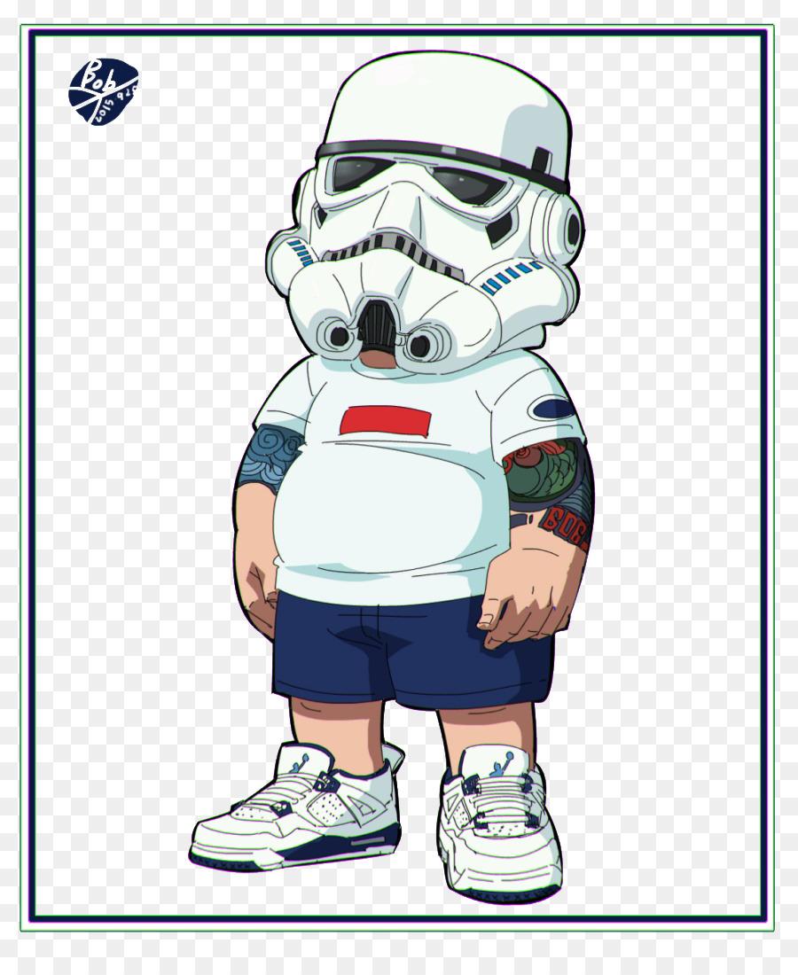 Kartun Masker Gas Ilustrasi Pria Gemuk Mengenakan Masker Gas