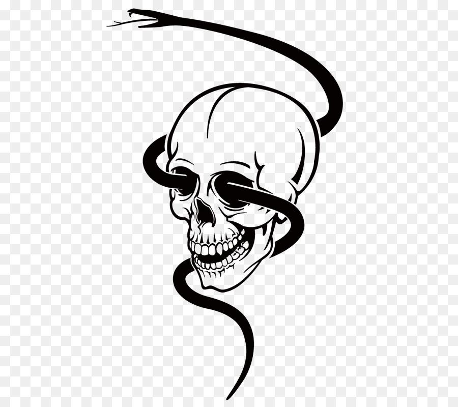 Snake Skull Euclidean Vector Clip Art
