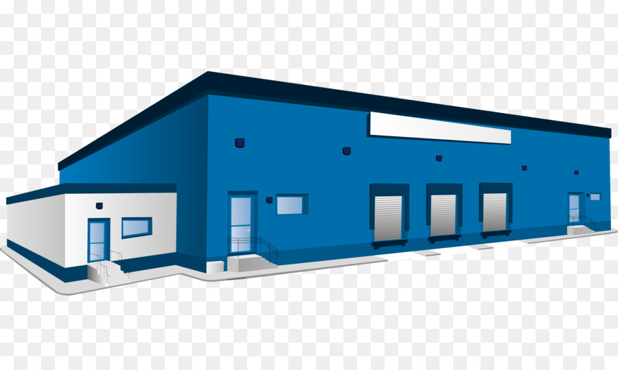 Warehouse Logistics Building Clip Art Blue Warehouse Png