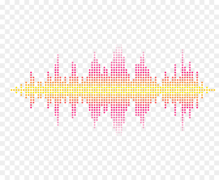 pink pattern rose red pixel sound wave curve png picture