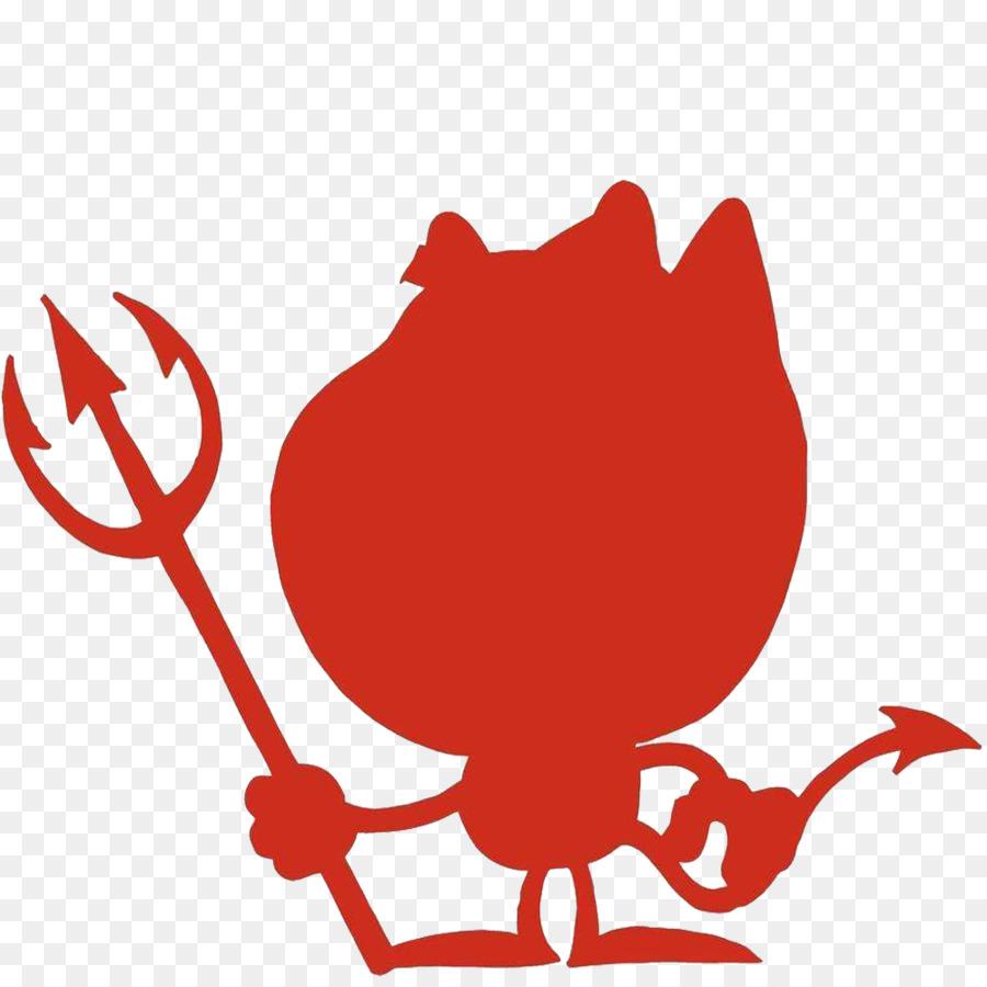 Diablo de dibujos animados de Satanás Clip art - Satanás silueta ...