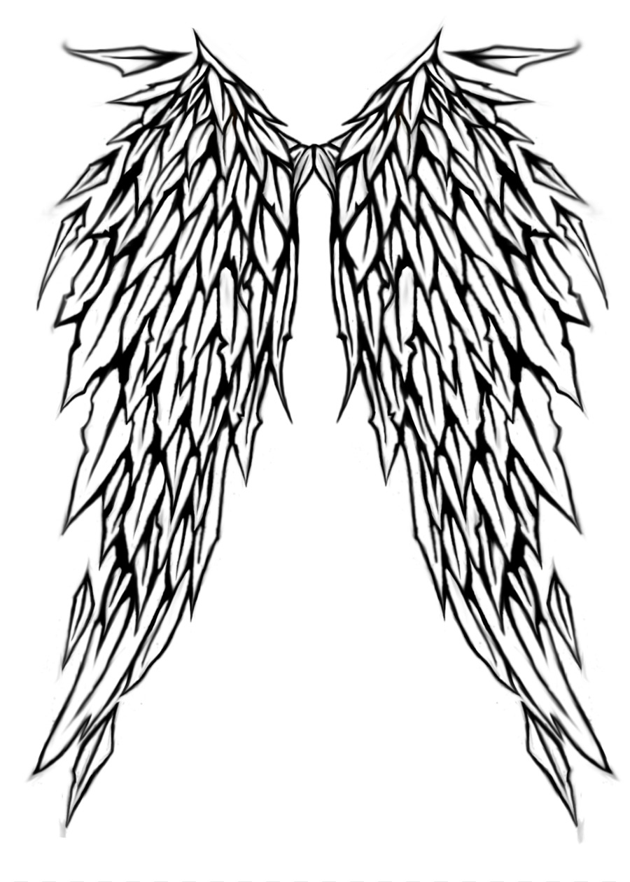 Lower Back Tattoo Angel Wing Flash Angel Wings With Halo Drawings