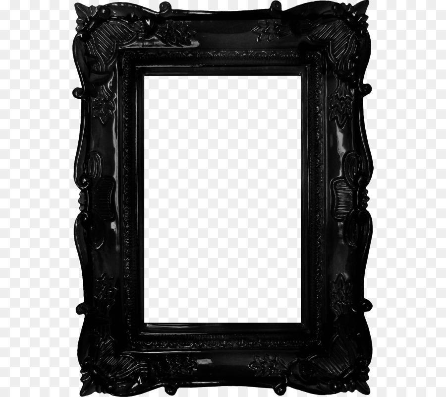 Picture frame Mirror Antique - Black frame png download - 608*800 ...
