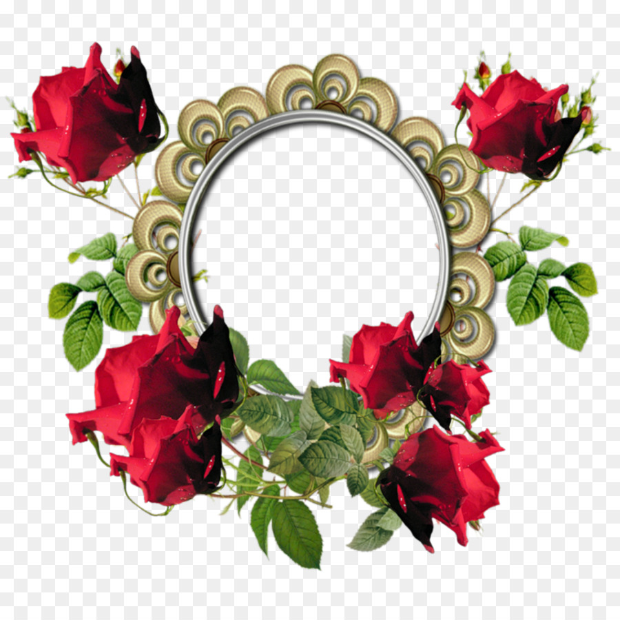 Flower Picture Frame Download Red Flower Frame Png Photos Png