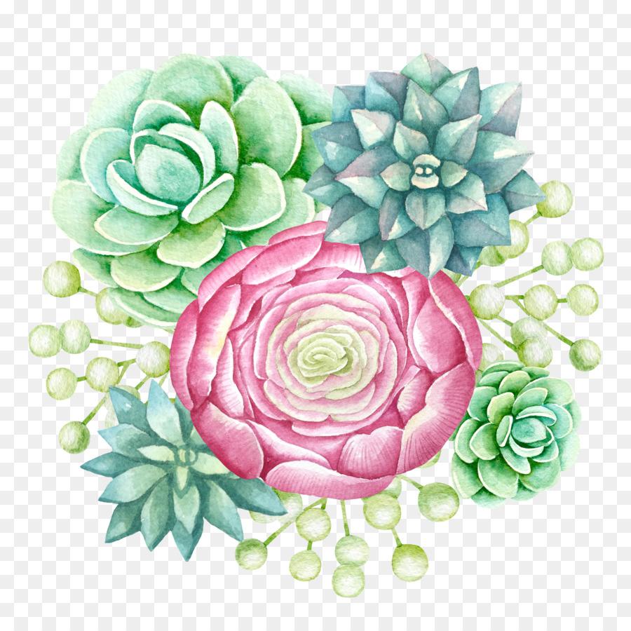 Succulent Plant Bouquet Png Download 40004000 Free