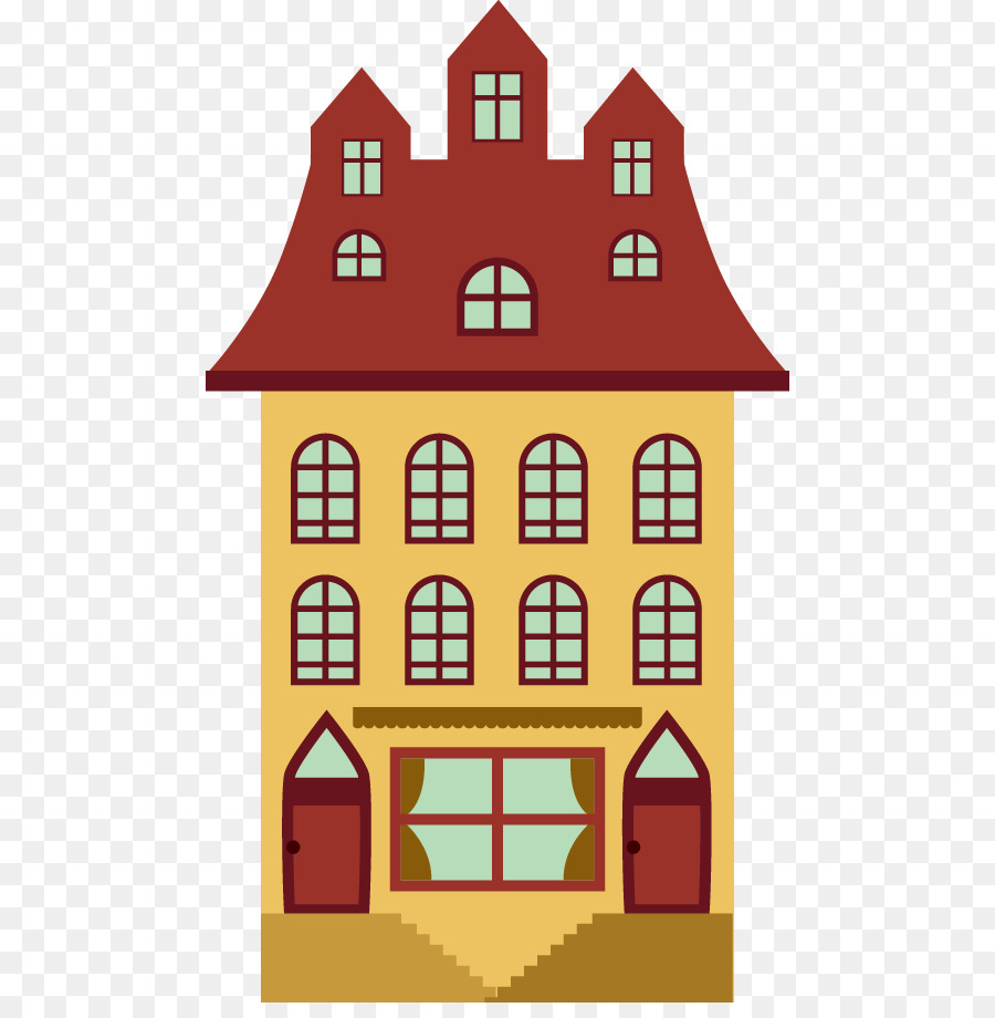 Apartment Cartoon House Building Area Png