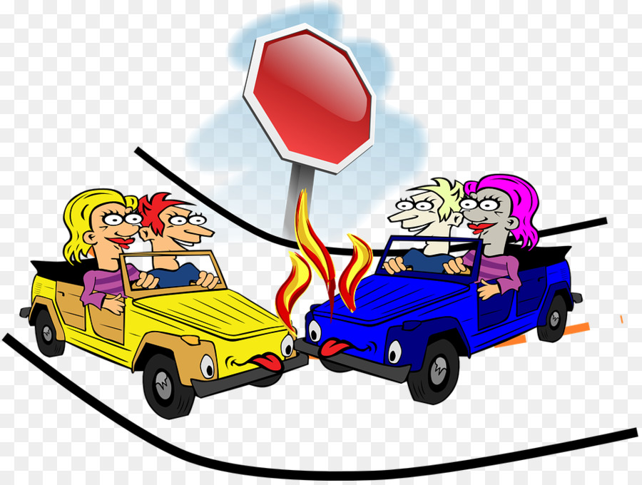 Traffic collision Accident Cartoon Clip art - intersection,Traffic ...