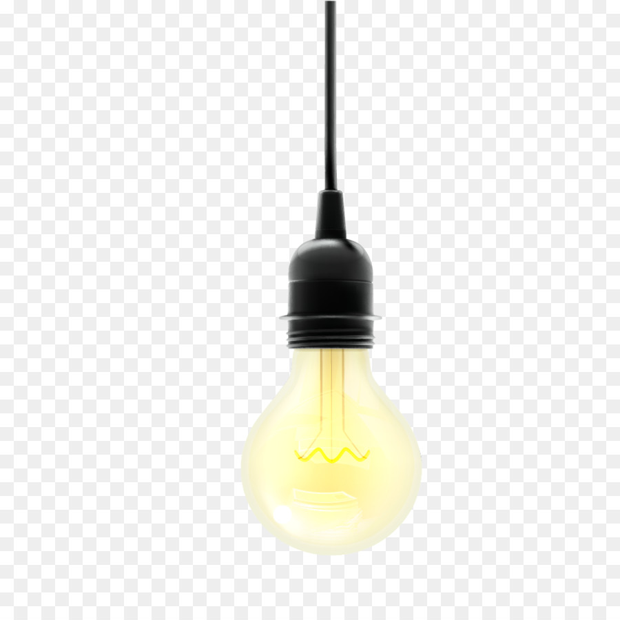 Incandescent Light Bulb Lamp Yellow Png 1042 Free Transpa