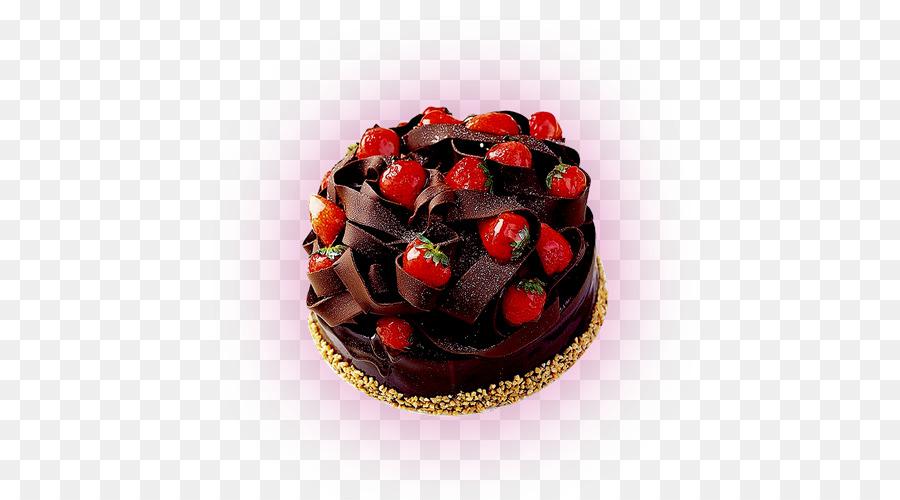 Chocolate Cake Birthday Strawberry Cream