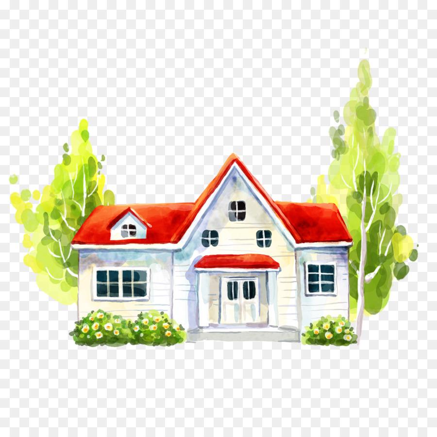 Rumah Villa Ilustrasi Gedung Putih Png Unduh 15011501