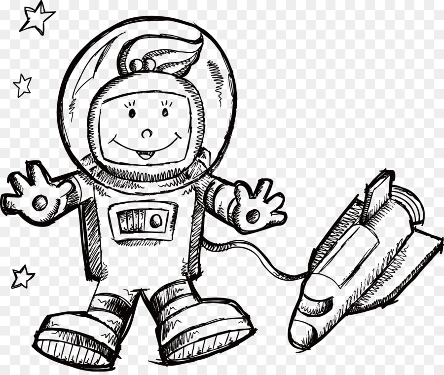 Coloring Book Outer Space Spacecraft Astronaut
