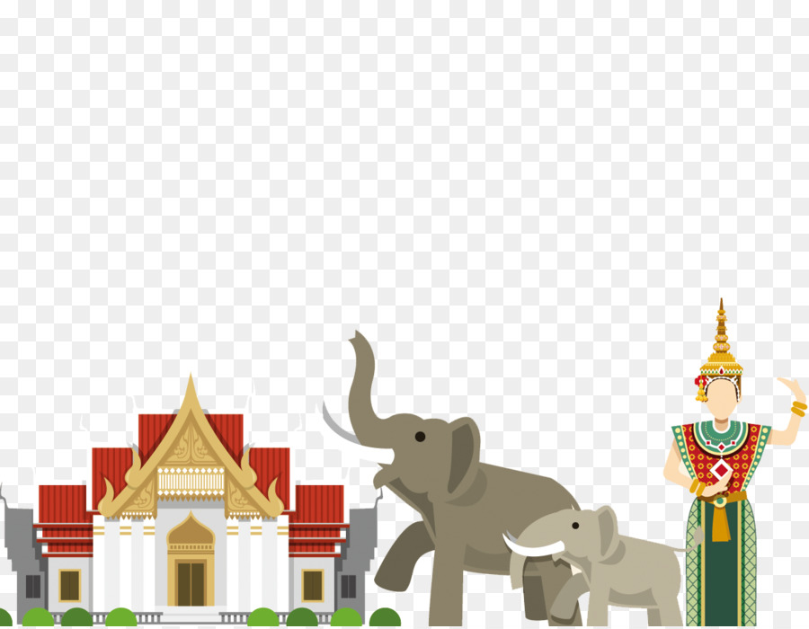 Thailand Culture Euclidean Vector Thai Elephant Cartoon Character
