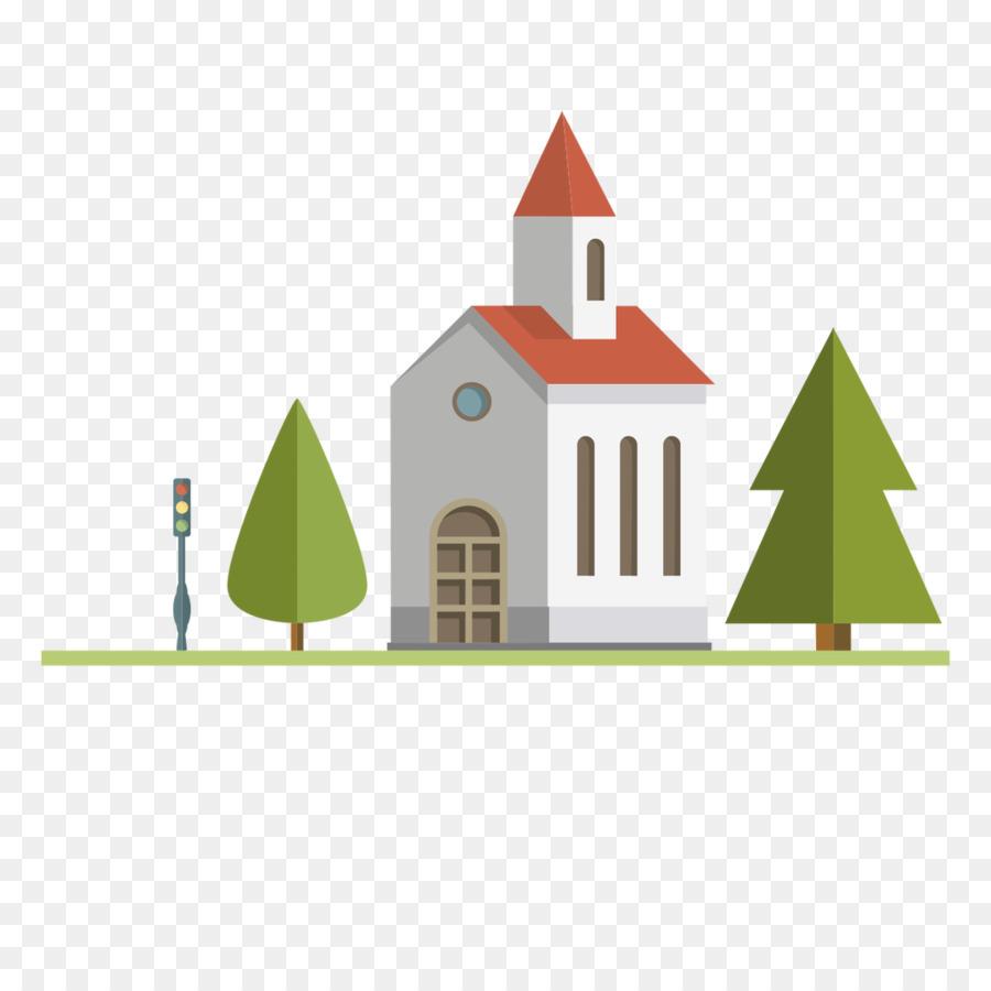 Iglesia Euclidiana del vector - Medieval edificio de la iglesia ...