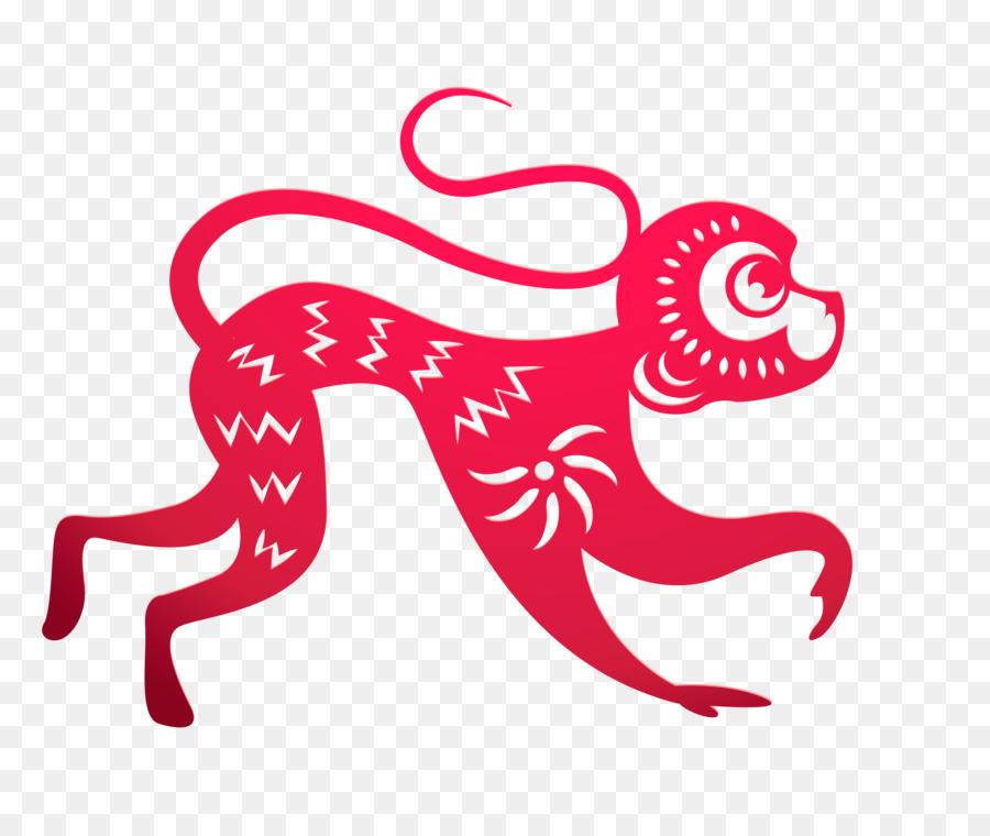 Papercutting Chinese Zodiac Monkey Chinese New Year Lunar New Year