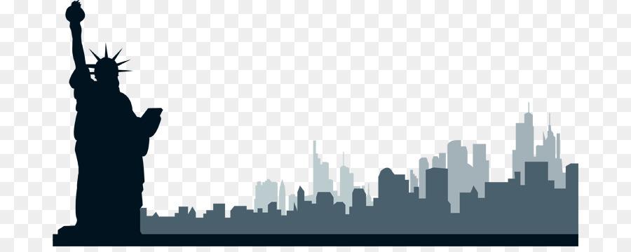 new york city skyline clip art new york png png download 750 352 rh kisspng com New York Skyline Illustration New York Skyline Illustration