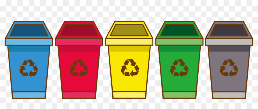 Recycling Bin Waste Container Cartoon Trash Can Png Download 3566 1471 Free Transparent