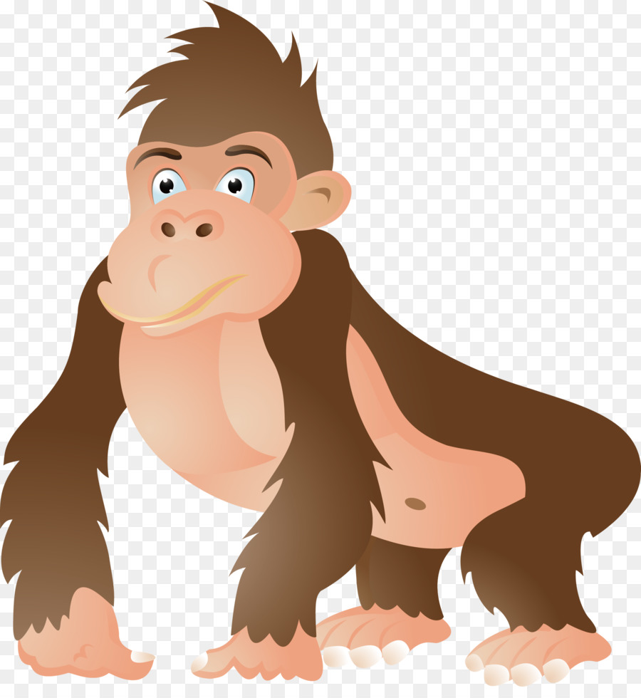 gorilla ape chimpanzee cartoon clip art gorilla vector png rh kisspng com app clipart ape clipart black and white