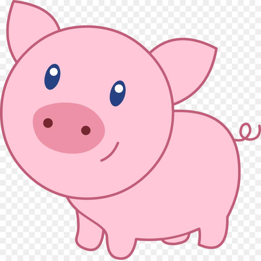 domestic pig clip art cute pig cliparts png download 4945 4925 rh kisspng com clip art piglets clipart pig racing