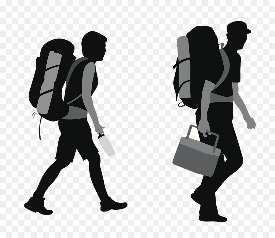 Backpacking Silhouette Backpackers Silhouette Png