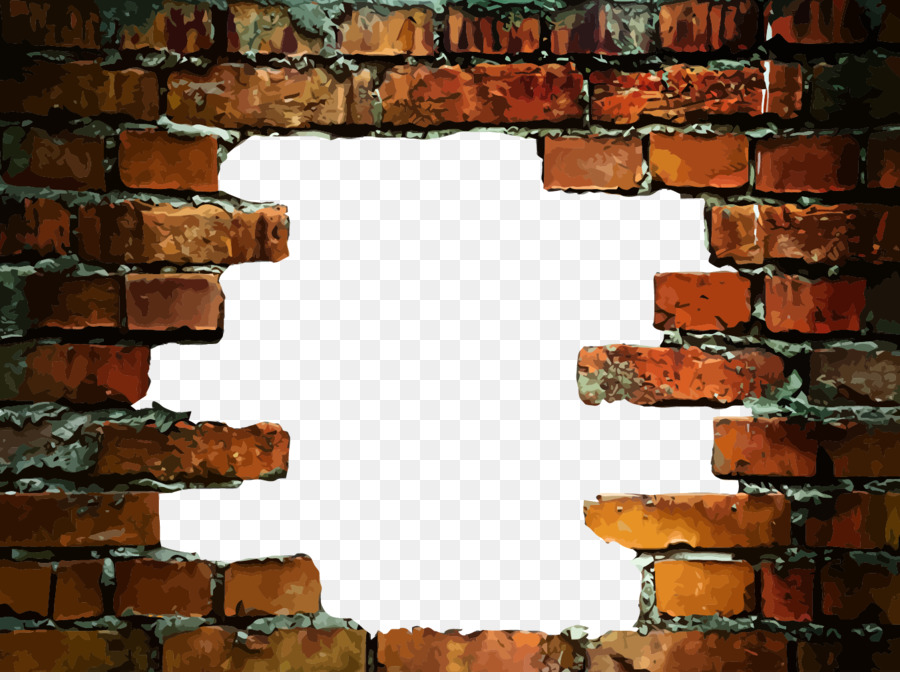 Stone Wall Brick Wall Decal   Hole In A Brick Wall