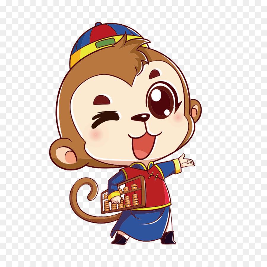 Cartoon Monkey Drawing   Cute Monkey