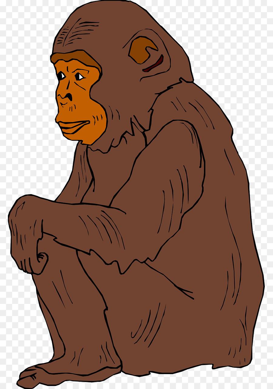 chimpanzee ape clip art brown orangutan png download 847 1280 rh kisspng com apa clip art citation ape clipart