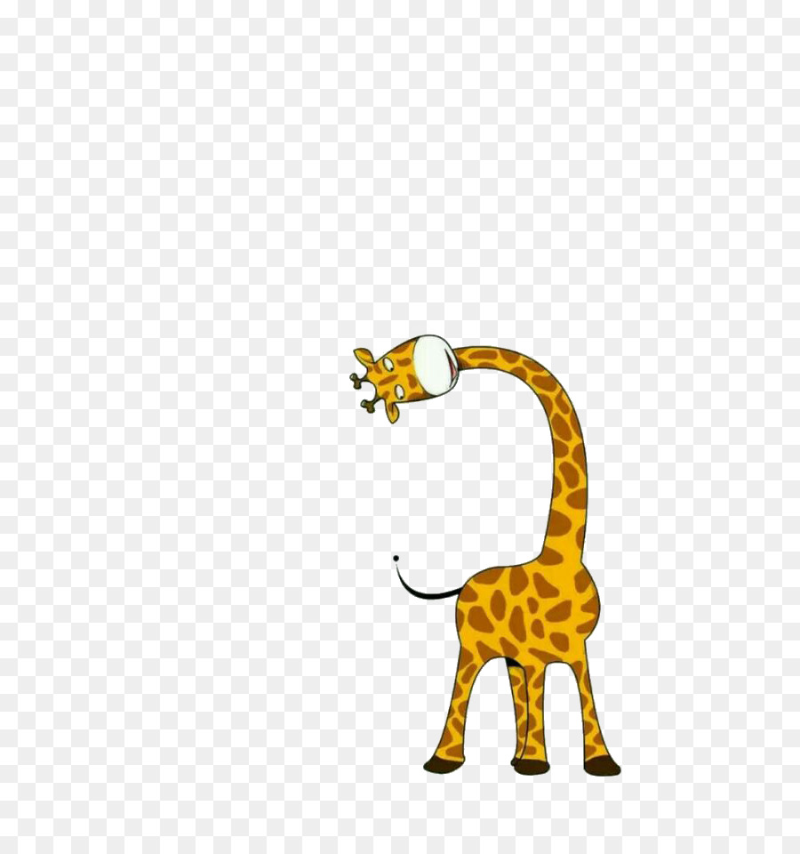 Giraffe Cartoon Drawing Illustration - Cute giraffe png ...