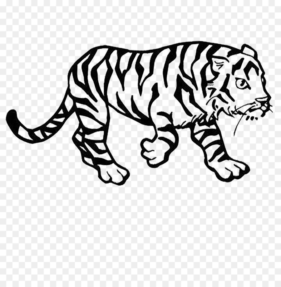 Siberian Tiger Bengal tiger Coloring book Lion Cat - Tiger Zodiac ...