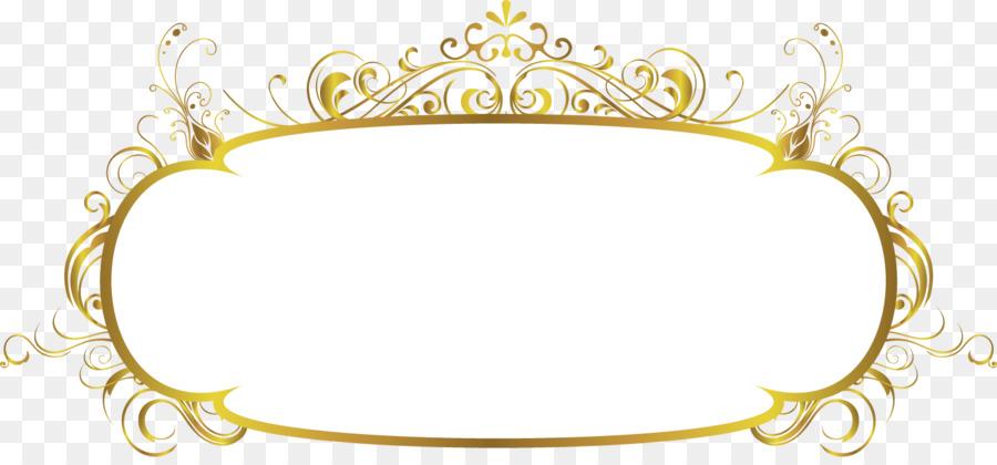 gold frame border png. Picture Frame - Gold Border Png