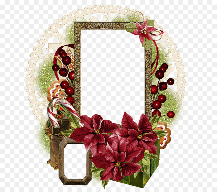 бумажные рамки с флористическим декором в корел