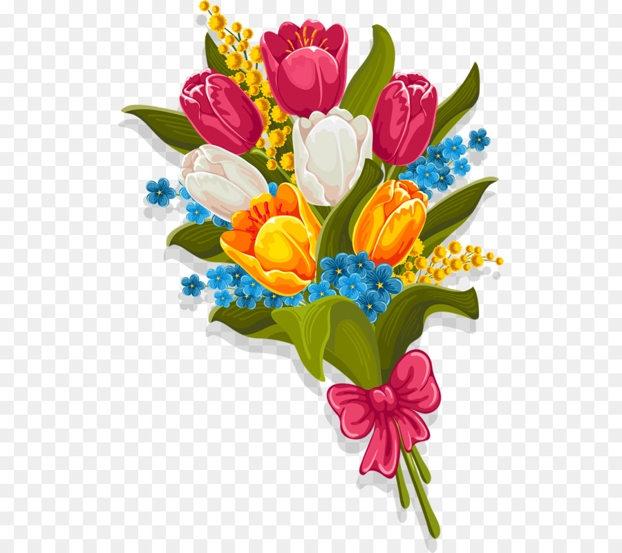Stock photography Flower bouquet Clip art - tulip png download - 558 ...