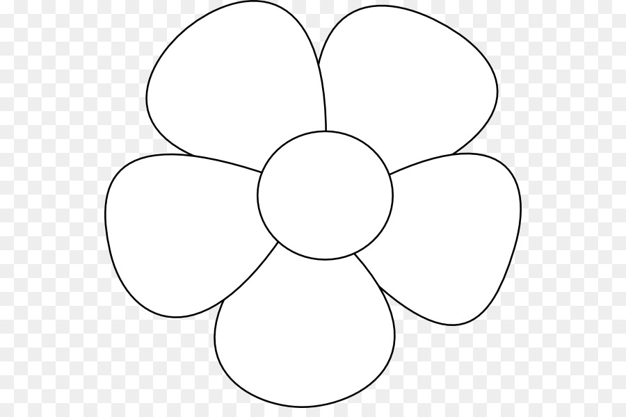Circle Symmetry Black and white Angle Pattern - Simple Flower ...