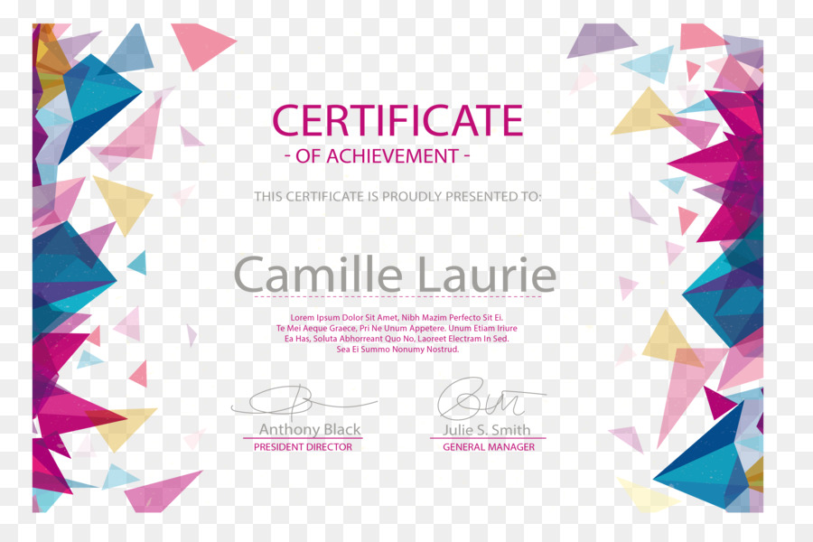Diploma euclidean vector academic certificate graduation ceremony diploma euclidean vector academic certificate graduation ceremony akademickxfd certifikxe1t color triangle floating pattern border certificate yelopaper Choice Image