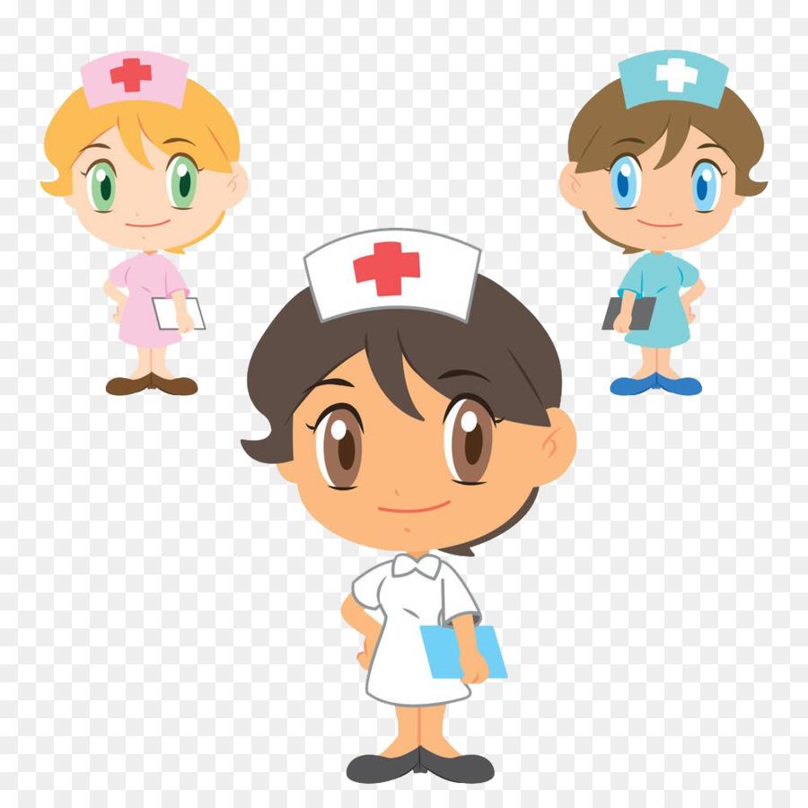 foto de Drawing Nursing Illustration Three doctors and nurses