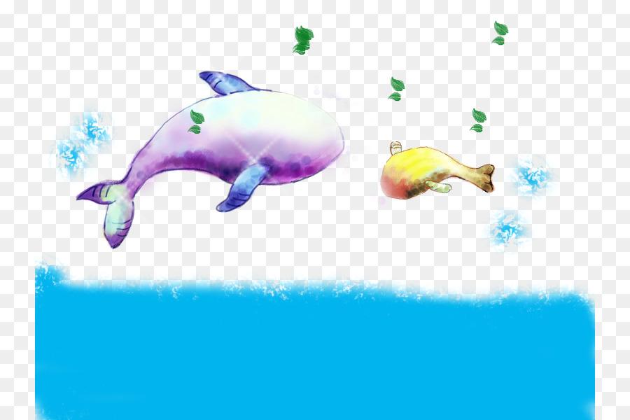 Delfín Ballena - De la mano de color de la ballena bebé png dibujo ...