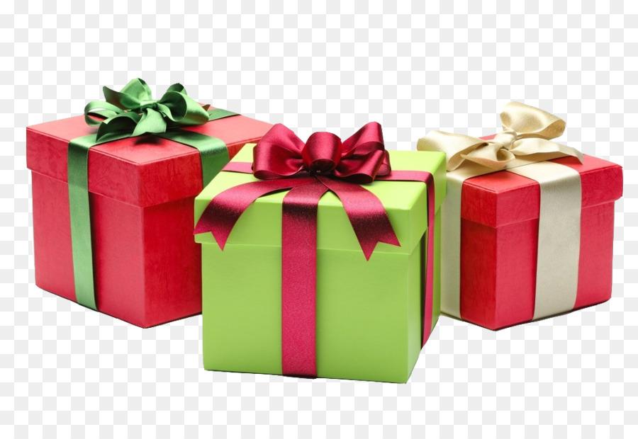 Christmas gift Santa Claus Happiness - Satin Gift Box png download ...