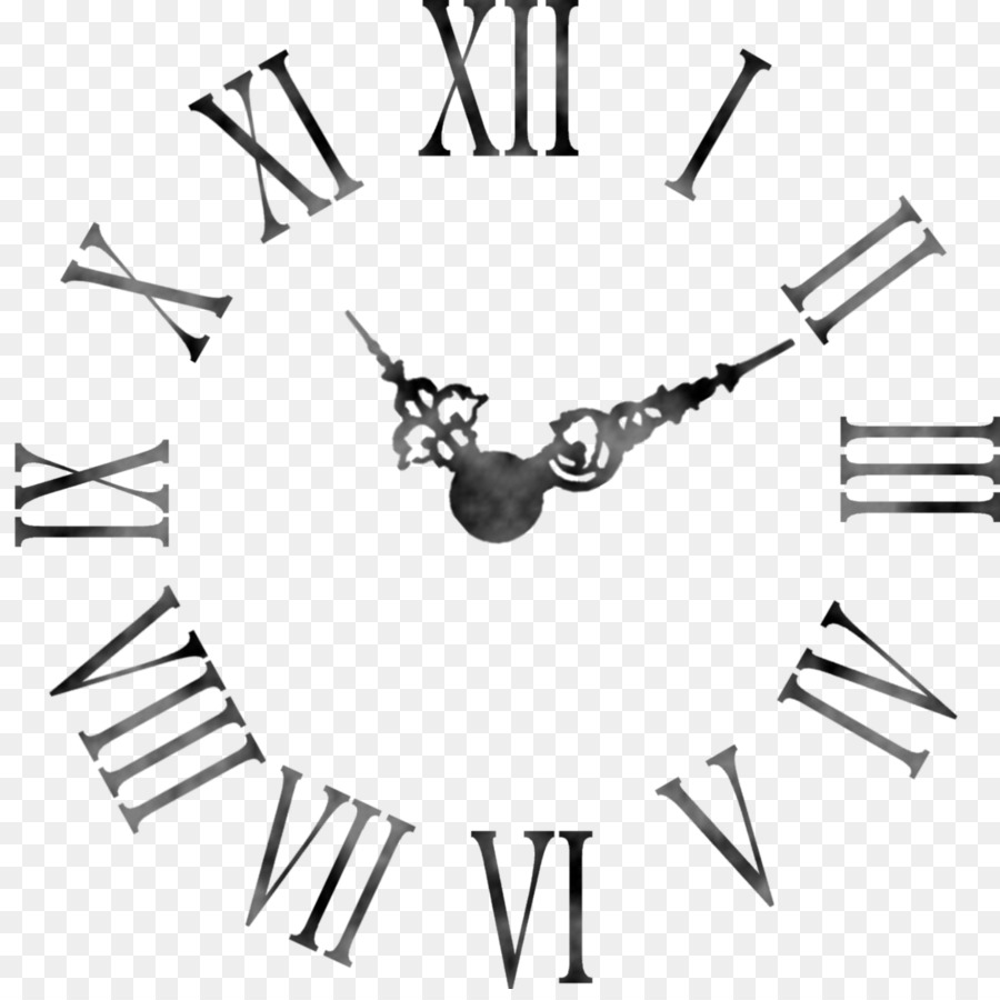 clock face roman numerals wall table time png download 2000 1977